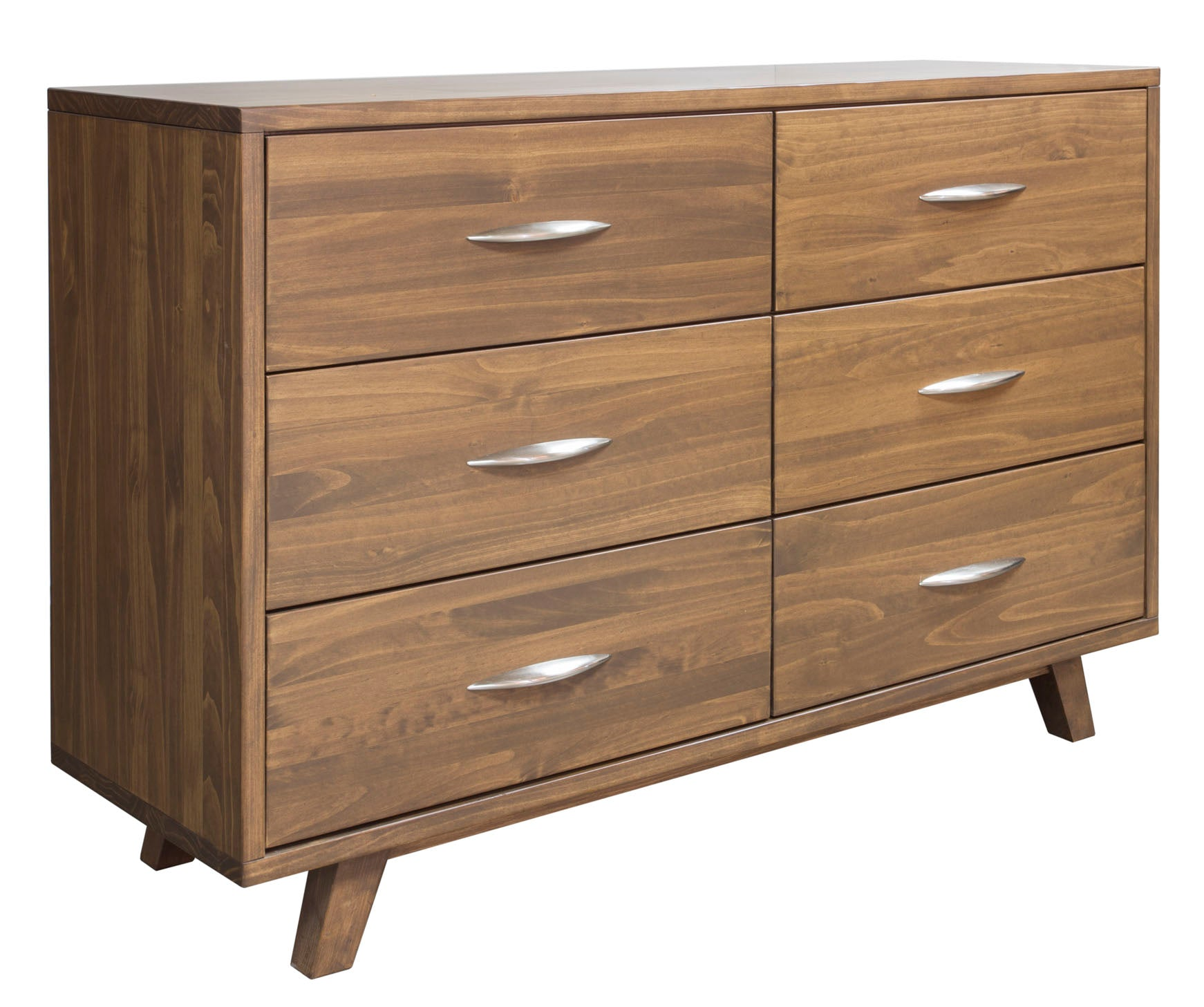 Soho Caramel Pine 6 Drawer Dresser - MJM Furniture