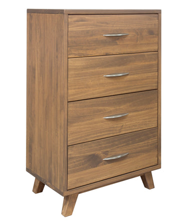 Brandon Caramel Pine 4 Drawer Chest - MJM Furniture