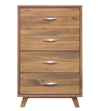 Soho Caramel Pine 4 Drawer Chest - MJM Furniture