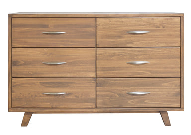 Brandon Caramel Pine 6 Drawer Dresser - MJM Furniture