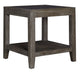 Bravo Platinum Oak Glass Top End Table - MJM Furniture