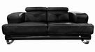 Broadway Black Leather Loveseat - MJM Furniture