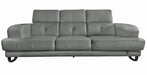 Broadway Gray Leather Sofa - MJM Furniture