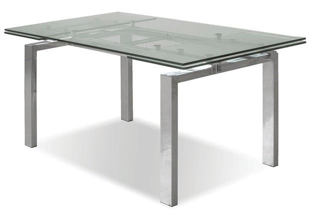 Kylo Polished Steel Extendable Dining Table - MJM Furniture