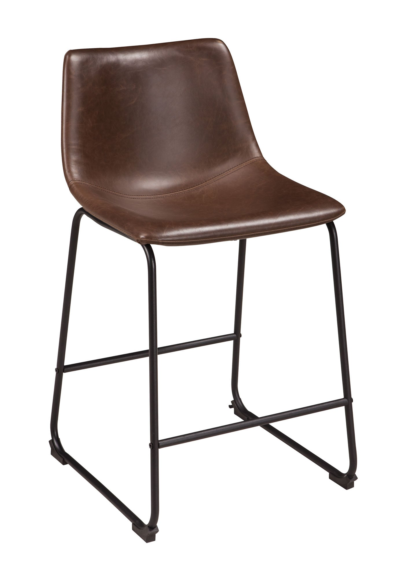 "Centiar Brown 24"" Counter Barstool - MJM Furniture"