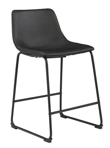 "Centiar Black 24"" Counter Barstool - MJM Furniture"