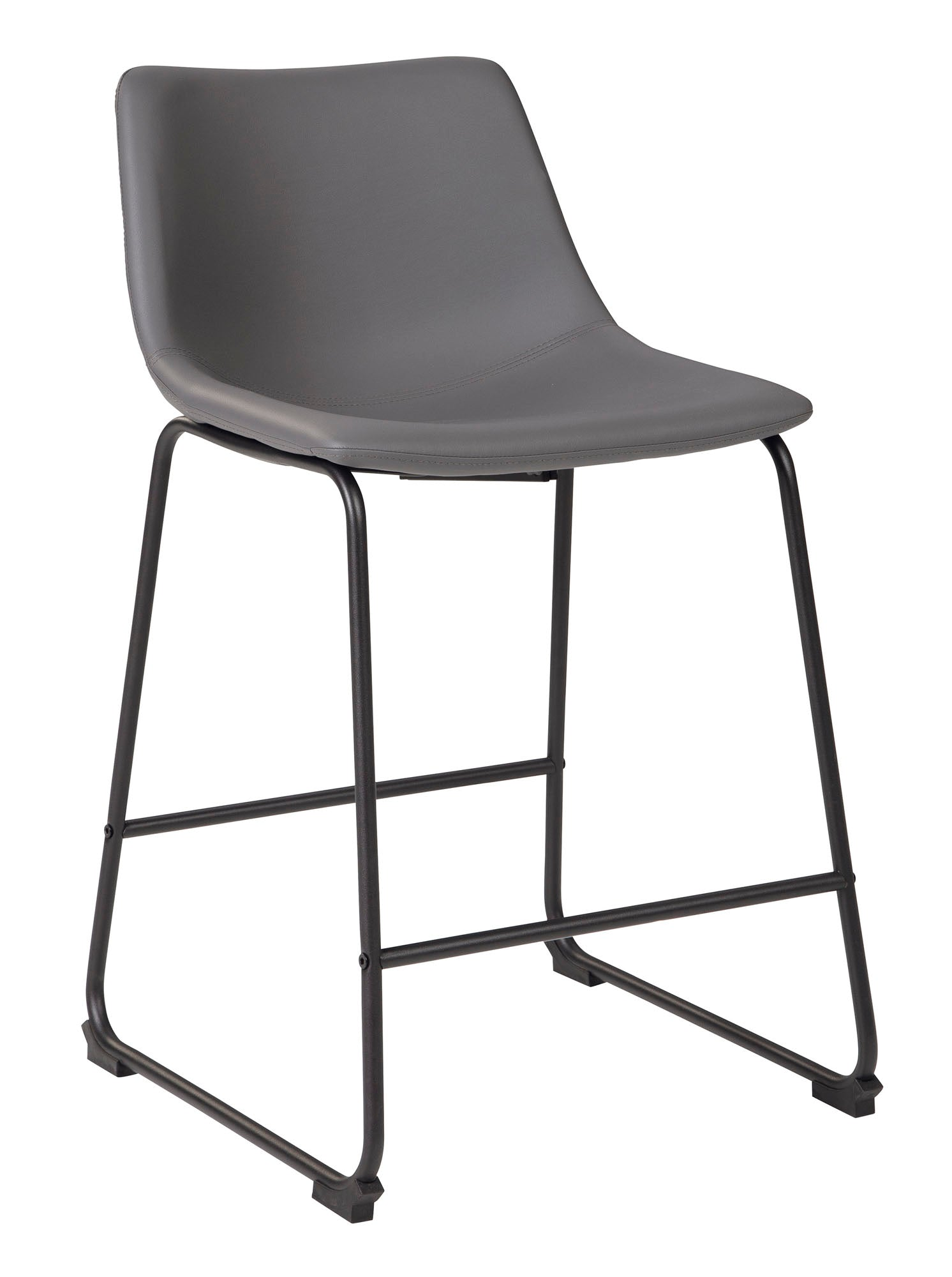 "Centiar Gray 24"" Counter Barstool - MJM Furniture"