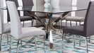 Berlin Square Glass Top Dining Table - MJM Furniture