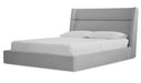 Cosmos Chenille Gray Hydraulic Lift Storage Bed - MJM Furniture