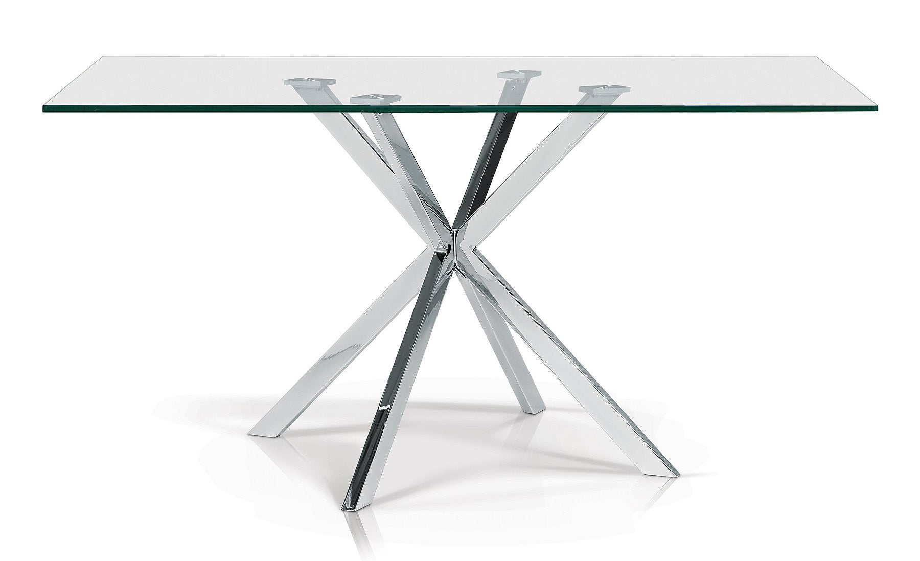 Darron Rectangle Glass Dining Table - MJM Furniture