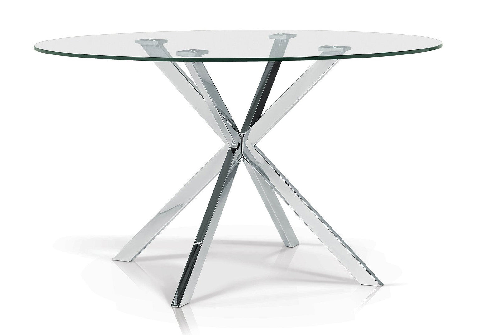 Darron Round Glass Dining Table - MJM Furniture