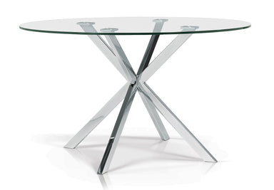 Oslo Round Glass Dining Table - MJM Furniture