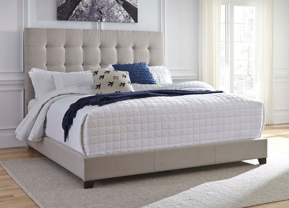 Dolante Beige Upholstered Bed - MJM Furniture