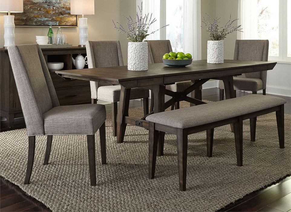 Double Bridge Trestle Dining Table - MJM Furniture