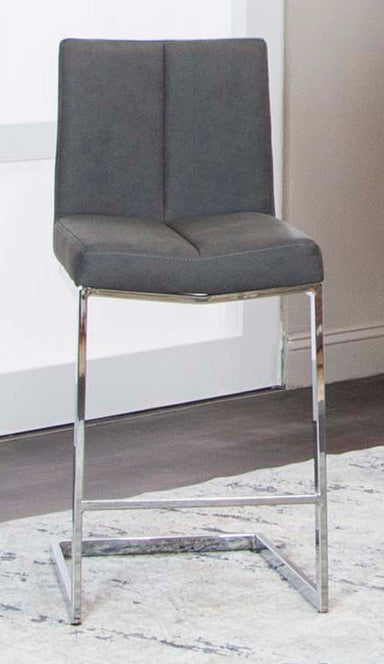"Gamma Charcoal 24"" Counter Stool - MJM Furniture"