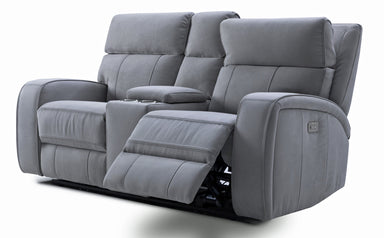 Ryler Power Reclining Console Loveseat w/Power Headrest - MJM Furniture