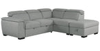 Gerardo Linen Gray 3 Piece Sectional - MJM Furniture