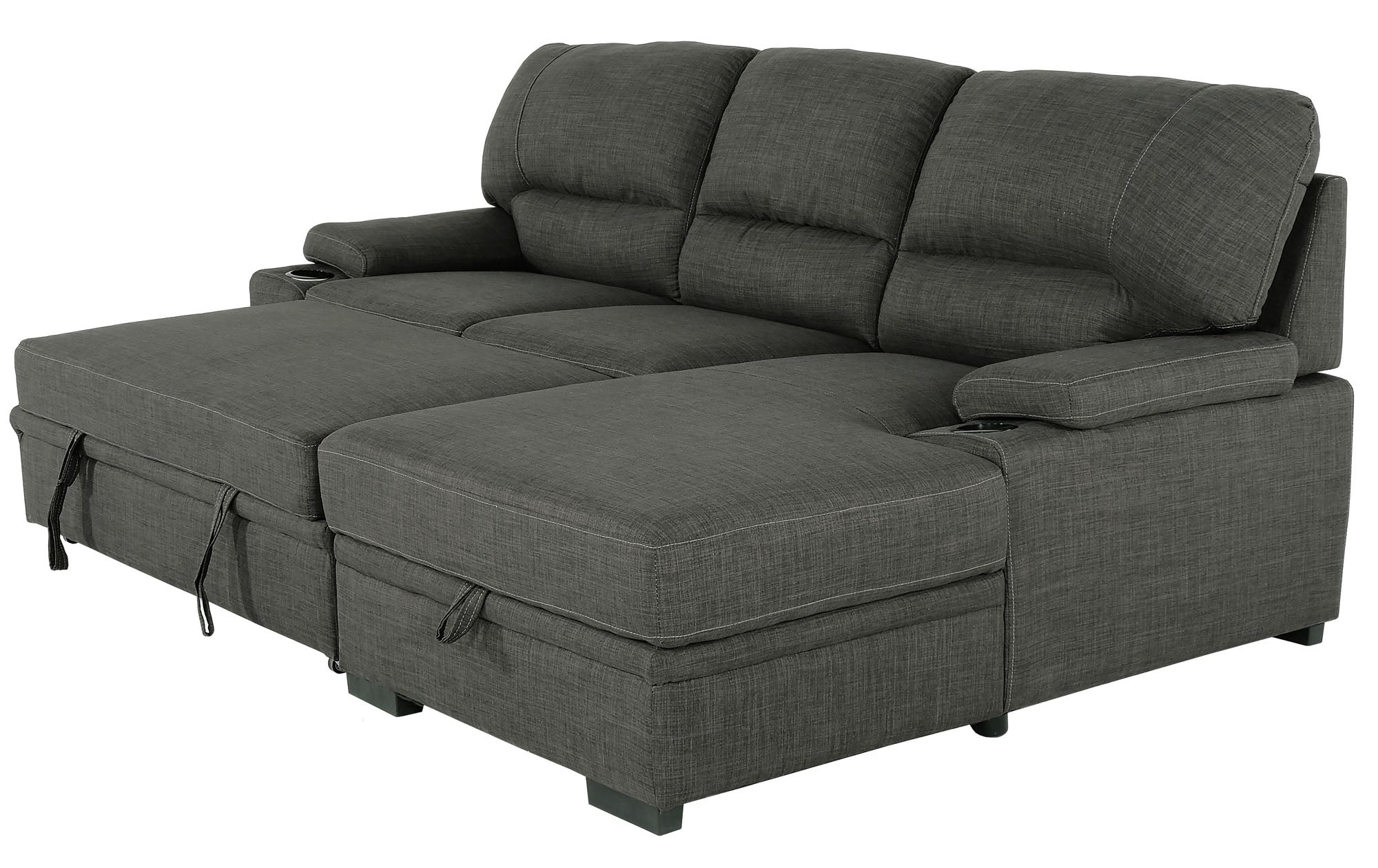 Giuseppe Charcoal 2 Piece Sectional - MJM Furniture
