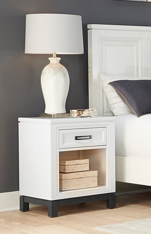 Hyde Park White Open Nightstand