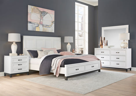 Hyde Park White Panel Bed - MJM Furniture