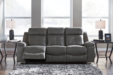 Jesolo Gray Reclining Sofa - MJM Furniture