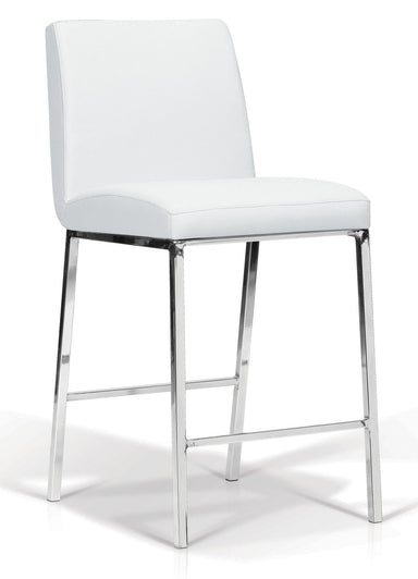 Lamar White Counter Stool - MJM Furniture