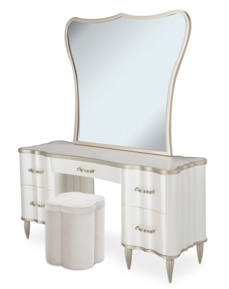 London Place 3 Piece Vanity w/Mirror & Stool - MJM Furniture