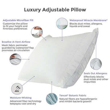 Protect-A-Bed Luxury Adjustable Tencel Pillow - MJM Furniture