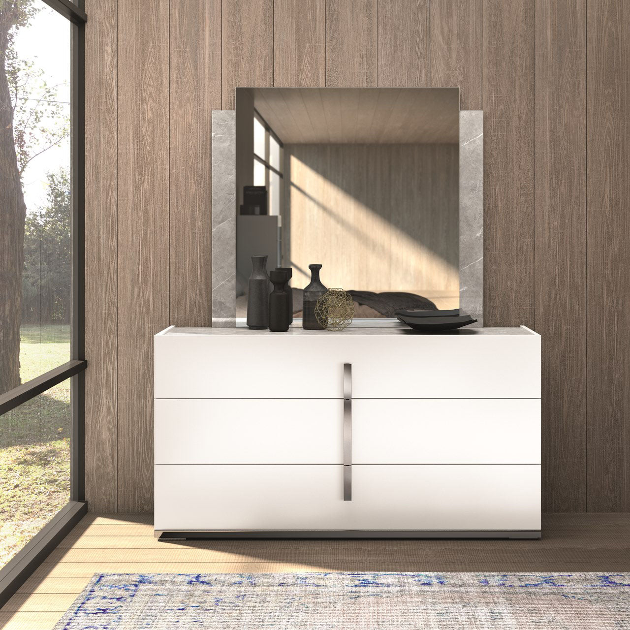 Ava Double Dresser & Mirror - MJM Furniture