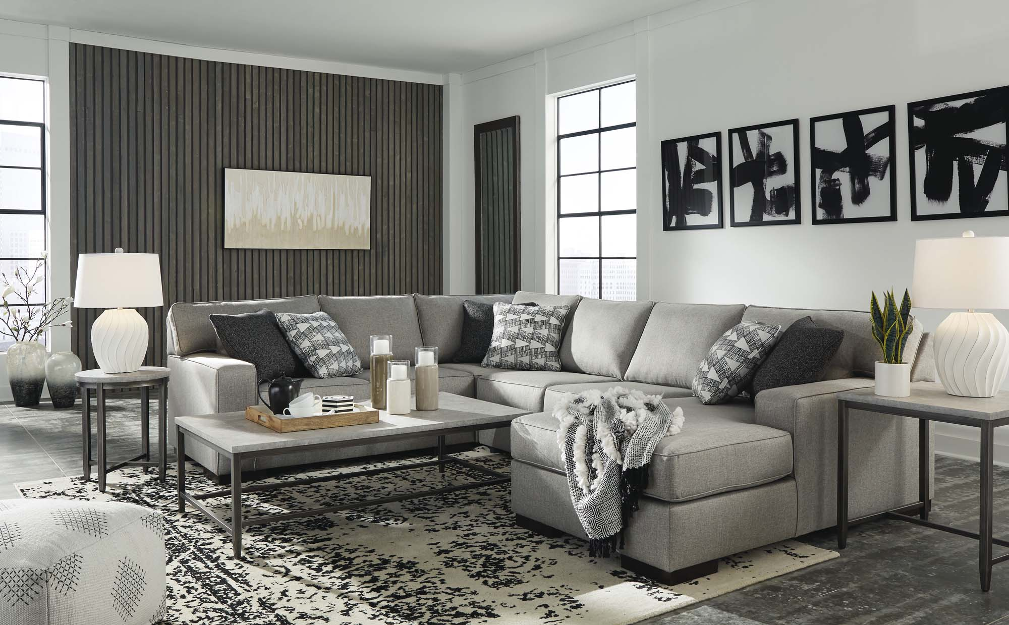 Marsing Slate 5 Piece Sectional - MJM Furniture