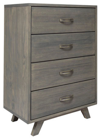 Metro Gray Pine 4 Drawer Chest - MJM Furniture