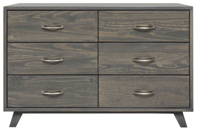 Metro Gray Pine 6 Drawer Dresser - MJM Furniture