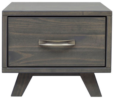Metro Gray Pine 1 Drawer Nightstand - MJM Furniture