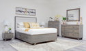 Metro Gray Pine Upholstered Storage Bed - MJM Furniture
