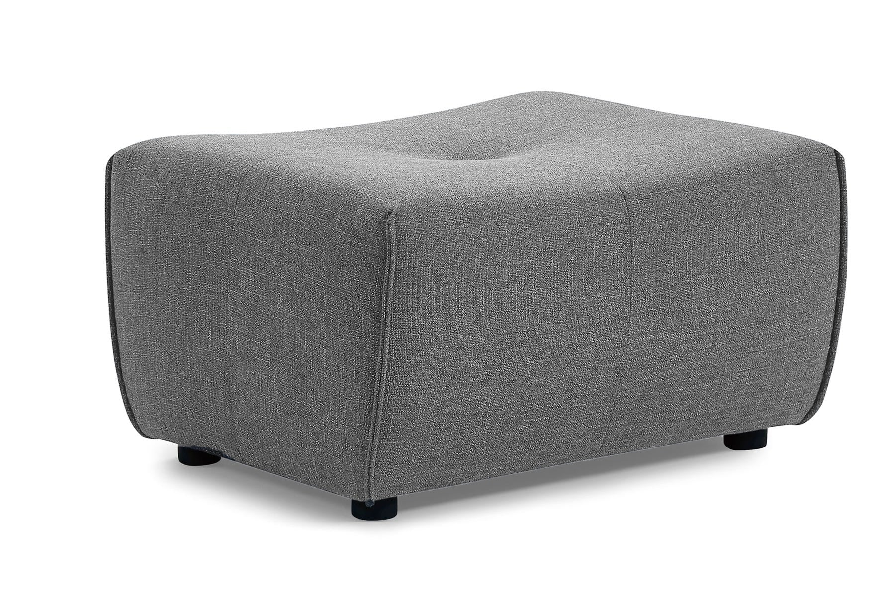 Cove Allure Gray Ottoman - MJM Furniture