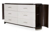 Paris Chic 6 Drawer Dresser & Mirror - MJM Furniture