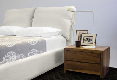 Cloud Linen Cream Upholstered Bed - MJM Furniture