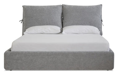 Cloud Chenille Gray Upholstered Bed - MJM Furniture