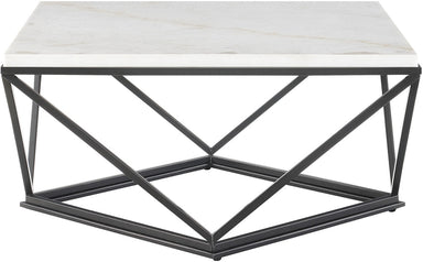 Riko Square Marble Coffee Table - MJM Furniture