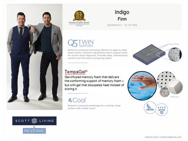 Scott Living Indigo Firm Mattress - MJM Furniture