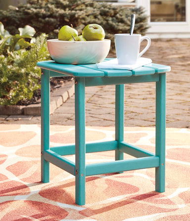 Sundown Treasure Teal Outdoor End Table - MJM Furniture