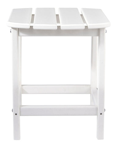 Sundown Treasure White Outdoor End Table - MJM Furniture
