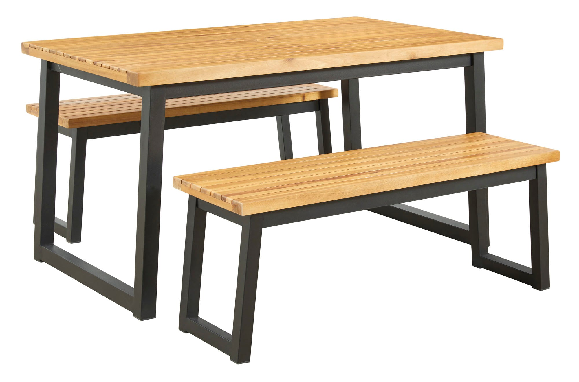 Town Wood 3 Piece Outdoor Dining Set - MJM Furniture