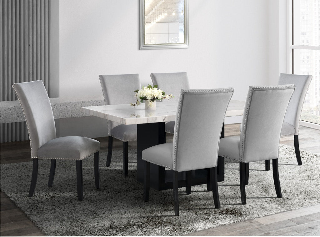 Aston White Marble Dining Table - MJM Furniture