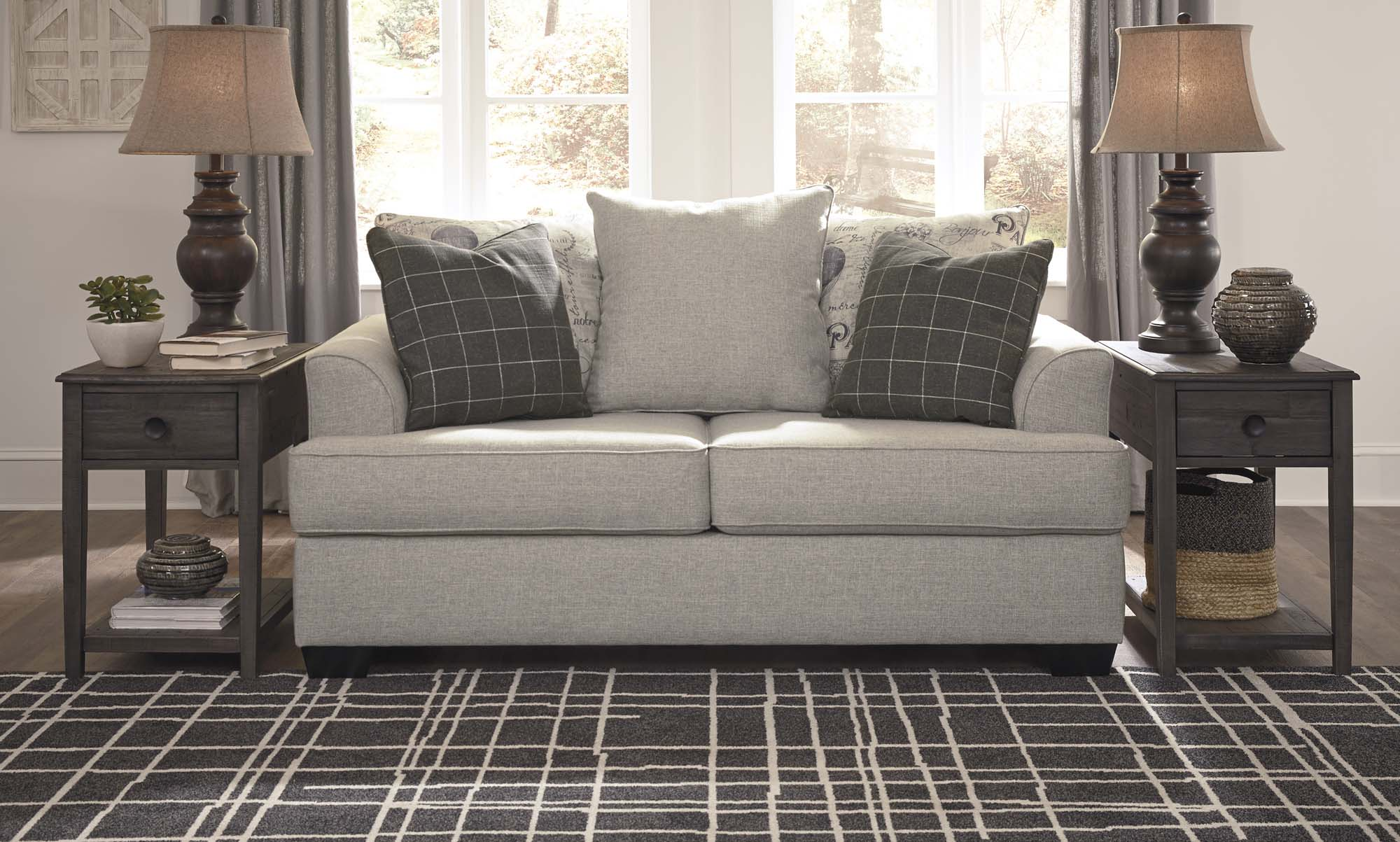 Velletri Pewter Loveseat - MJM Furniture