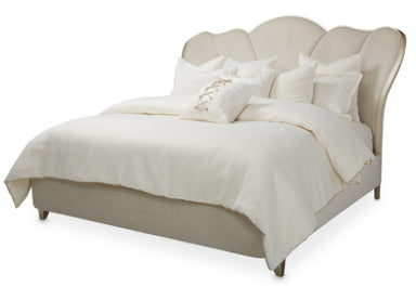 Villa Cherie Caramel Upholstered King Bed - MJM Furniture