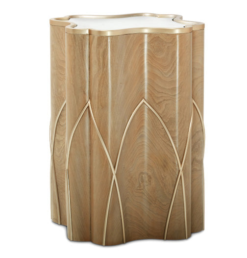 Villa Cherie Caramel Chairside End Table - MJM Furniture