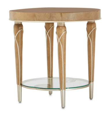 Villa Cherie Caramel End Table - MJM Furniture