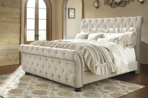 Willenburg Upholstered Sleigh Bed - MJM Furniture