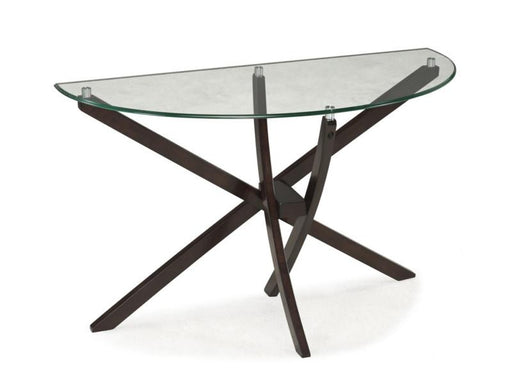 Xenia Sofa Table with a tempered glass top - MJM Furniture